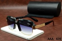Wholesale Design Womens Sun Glasses - Semi-Rimless Cazals Sunglasses 670 Summer New Style Vintage Mens Womens Sunglasses Brand Design Oversized Frame Men Sun glasses Cazals