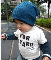 Wholesale Crochet Beanie Colors - Hot 5 Colors Baby Kids Infant Toddler Beanie Hat Crochet Warm Winter Boys Girls Cap Family Mother and Son Daughter Children Acc K4696