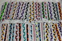 Wholesale Softball Sports Headbands - baseball softball sports headbands set elastic nylon headbands for girls braided mini non slip hairbands stay in place keep your focused