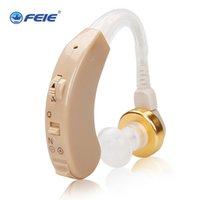 dijital mini işitme cihazı toptan satış-Taşınabilir Mini Dijital Görünmez İşitme Kulak Ses Amplifikatör Kulak Tonu Arkasında Ses Ayarlanabilir İşitme Dropshipping S-138