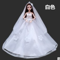 Wholesale Japanese Hot Baby Doll - 2017 hot style Babe than dolls clothes handmade flowers wedding dress skirt Can be given to the baby when the Christmas or Halloween gift