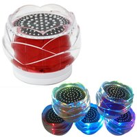 Wholesale mini mp3 player crystal online - FL01 Crystal Rose Speakers Bluetooth Hand Free Super Bass Mini Portable Wireless Speaker For HTC LG Samsung iPhone DHL Free MIS100
