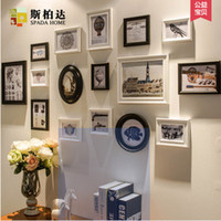 Wholesale Photo Frames For Walls - Photo Frames for Picture wall,Picture Frame Family For Home Decoration,3 Colours,2015 Modern 16 Pcs Combination Wooden Frame