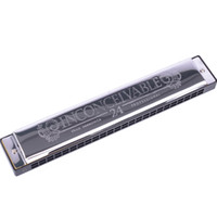Wholesale Swan Harmonicas - Swan SW24-4 Tremolo Harmonica 24 Holes 48 Tones C Key with Black Box