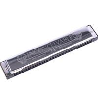 harmonica 24 achat en gros de-Swan SW24-4 Tremolo Harmonica, 24 trous, 48 touches, tonalité C avec boîtier noir
