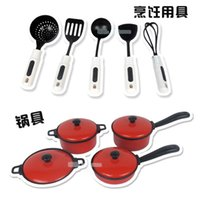 Wholesale Education Toy House - 13PCS Kid Play House Toy Kitchen Tool Accessories Cooking Pots Pans Food Dishes Cookware Good for Chlidren's Education Best Gifts