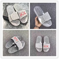 Wholesale Lace Flat Slippers - 2017 Top Real Summer KAWS X Retro 4 Slippers Glow In Dark XX Slippers Hydro IV 4s Sandals Mens Sports Casual Slides Slipper Size 40-46