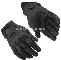 Wholesale Retro Perforated Leather Motorcycle Gloves Riding Cycling Moto Motorbike Protective Gears Motocross Glove