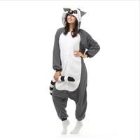yetişkin yılbaşı onesies pijama toptan satış-Unisex Yetişkin Erkekler Kadınlar Pijama Peluş Tek Parça Maymun Hayvan Parti Noel Kostüm Kış Sıcak Pijama OS0033