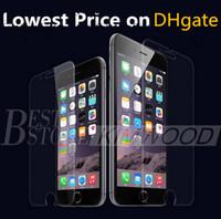 precios para samsung s5 al por mayor-Protector de pantalla de vidrio templado para Iphone 6S Plus 5S 4S Samsung Galaxy S7 S6 S5 S4 Note 5 4 Sin paquete El precio más bajo