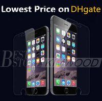 apple iphone menor preço venda por atacado-Protetor de tela de vidro temperado para iphone 6 s plus 5s 4S samsung galaxy s7 s6 s5 s4 nota 5 4 sem pacote menor preço