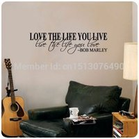 Bob Marley Quote mots Stickers muraux Décor Love Life Grand autocollant de Nice texte / Citer / autocollants en vinyle Art Stickers muraux / Décoration