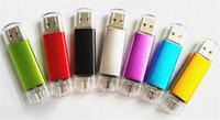 garanti sürüsü toptan satış-Son döndür tarzı bellek sopa 64 GB 128 GB Için 256 GB USB 2.0 OTG Flash Sürücü Akıllı Telefon / tablet PC için 12 ay garanti