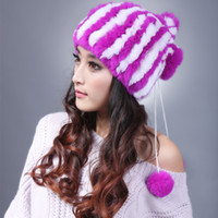 Others otter fur - manufacturers selling woven of otter fur hats Warm ultra thick rabbit hat