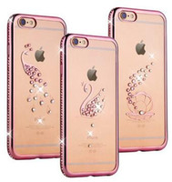 Pas cher Hot luxe de diamant de Bling série d'images pour iPhone Soft Case Hybrid TPU Back Protector pour iPhone 6 6S 6 Plus 6S plus Package Retail