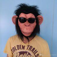 Wholesale horror fancy dress - X-MERRY Chimp Monkey Mask Gorilla Ape Bruno Mars Lazy Song Animal Primate Fancy Dress