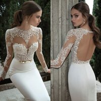 One Piece Bras Ruffles online - Romantic Evening Dress Mermaid Real Image Ruffles Sheer Prom Gown With Applique Long Sleeve Sexy Evening Gowns With Bra Luxury Prom Dresses