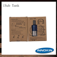 Replaceable 4ml Metal Innokin iSub Tank 4ml Sub ohm Vaporizer Tank Japanese Organic Cotton Wicking Atomizer Vertical DeepCoil System Clearomizer 100% Original