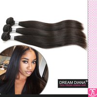 Wholesale Uk Products - Ali Queen Hair Virgin Straight Hair 3pcs Sexy Formula Hair Kinky Straight Peruvian Human Hair Extensions UK Queen Hair Products Sweet Hair