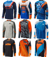 Wholesale Gt Xl - 2018 New For KTM Racing Downhill Mountain Bike Riding Gear GT Racing Under Cross-country T-shirt Quick-drying MTB DH Mountain Bike Jersey
