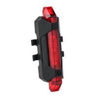 luces delanteras led para bicicletas al por mayor-Bicicleta 5-LED 4 Modo Luz de advertencia de la cola delantera roja Lámpara de advertencia de ciclismo en bicicleta Impermeable envío gratis