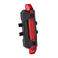 ingrosso luci di segnalazione biciclette-Bicicletta 5-LED 4 Modalità Rosso Coda Anteriore Attenzione Spia Bike Cycling Warning Lamp impermeabile spedizione gratuita