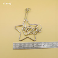 Wholesale brain teasers puzzle metal ring online - Fun Brain Teaser Game Star Metal Wire Puzzles Ring Spiral Toy Adult