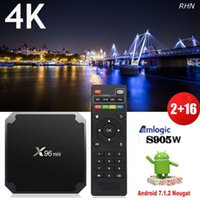 L'ultima X96 Mini 2Gb 16 Gb Amgolic S905W KD 17.4 4K Android 7.1 7.0 supporto per tv tv android webcam TV Top Box