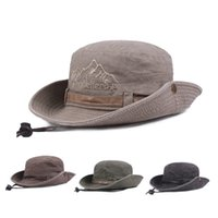 Fisherman 'Fishing Bucket Caps Cotton Mens Spring Summer sombreros de escalada al aire libre Estilo Occidental Retro Casual Safari Hat Army Green