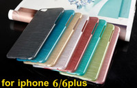 Wholesale Mobile Phone Covers Crystals - New Arrival Luxury Hard Crystal Plastic wire drawing process case for iPhone 6 4.7 plus inch Mobile phone Case Cover Protective Shell SCA018