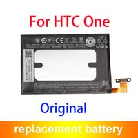Wholesale M7 Battery - 100% Original OEM BN07100 Mobile Phone Battery For HTC One M7 801e 801s Batteria 2300mAh 35H00207-01M