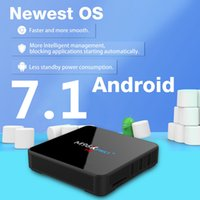 Wholesale Set Top Box Android Os - 2GB 16GB S905W TV Box M96X PRO plus 7.1 OS DDR3 EMMC 2.4GHz 5GHz AC WiFi BT4.0 CODI KD17.4 Android TV Set Top Box