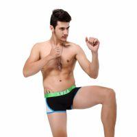 Wholesale Leopard Mens Boxer - 2016 Hot Underwear Men Fashion Style Patchwork Male Underpants Soft Underwear Boxer Low Waist Panties Mens Boxer Shorts