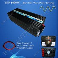 Wholesale Sine Wave Inverter 5kw - single phase off grid tie dc to ac pure sine wave solar power 5kw 12v 220v inverter