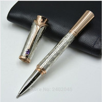 Wholesale Rhinestone Writing Pens - Rollerball pen MB Princess Grace Silver Engraved Stone Rhinestone Elegant Gift