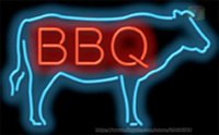 """Wholesale bbq signs - HOT BBQ COW Neon Sign Commercial Lamp Bar Store Club PUB Display Sign Custom Real Glass Tube Sign Advertisement Neon Signs 17""""X14"""""""
