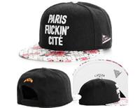 Wholesale Paris Snapback - 2015 fashion CAYLER & SONS Snapback Paris Cité mens Schwarz Rosen Cap Mütze,new Discount Cheap snapbacks baseball caps,hats street caps