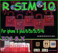 Wholesale Iphone T New - 2014 New Unlock Card ios8 ios 8 R-SIM R SIM RSIM 10 Perfect unlock for iphone 6 plus iphone 6 5s 5 plus AT&T T-mobile Sprint WCDMA GSM CDMA