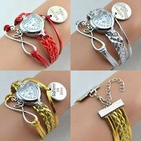 Wholesale Women S Infinity Bracelet - Wholesale-HEART WATCH women quartz watches fashion silver infinity charm girl 's gift wristwatch bracelet women