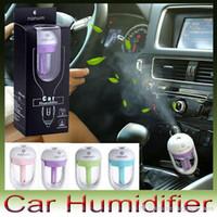 Wholesale Pc Keyboard Types - Nanum Car Plug Air Humidifier Purifier,Vehicular essential oil ultrasonic humidifier Aroma mist car fragrance Diffuser DHL 50 pcs lot