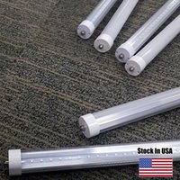 Wholesale T8 Lights Discounted - Special discount 8ft led tube lights single pin fa8 t8 led cooler bulb SMD2835 6000-6500K led fluorescent tube US Stock