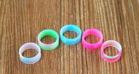 schönheit ring e cig großhandel-Silikon band vape beauty ring für mechanische mods rba rda zerstäuber dekorative beschützer rutschfeste mech mod e cig