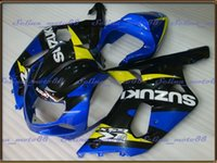 Wholesale ABS Fairing kit for SUZUKI GSXR600 GSXR GSX R750 K1 gsxr750 blue black Fairings Bodywork
