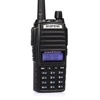 vhf uhf iki yönlü telsizler toptan satış-BAOFENG UV-82 VHF UHF Çift Bandı 136-174 / 400-520MHz 2-PTT 5W İki Yönlü Radyo DHL Tarafından Ücretsiz Kargo