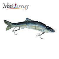 "Wholesale multi jointed fishing lures - Mmlong 6 .5 "" 39g New Pike Fishing Lure Lifelike Crankbait Multi Jointed Swimbait Realistice Hard Fish Bait Tackle Pesca Mml12b"