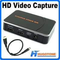 Wholesale Professional Edit - HD 1080P Video Capture HDMI YPBPR Game Capture Recorder Box for XBOX One   360 PS3 WII U with Professional Edit Software