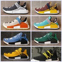 Wholesale human race red shoes - 2018 Big size NMD HUMAN RACE Trail boost Mens Running shoes nmds Hu ultra boosts yellow black white womens Sport sneakers US