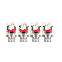 Wholesale Santa Bear - Newest Christmas Drip Tips 510 Wide Bore Drip Tip Ceramics Drip Tips with Santa Claus Print for 510 EGO Atomizer Mouthpieces RDA Vaporizer