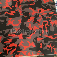 Barato Desenhos De Desenhos Animados De Decalques De Vinil-Ubran noite Red Black Arctic Camoufalge Envoltório de vinil Stickerbomb Graffiti Cartoon grande Camo Wrap Sticker Decal Folha de filme Air bubble Free