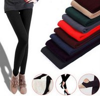 Wholesale knitted leggings warm thick - Wholesale 2014 New Leggings For Women Casual Warm Winter Faux Velvet Legging Knitted Thick Slim Leggings Super Elastic Free Ship